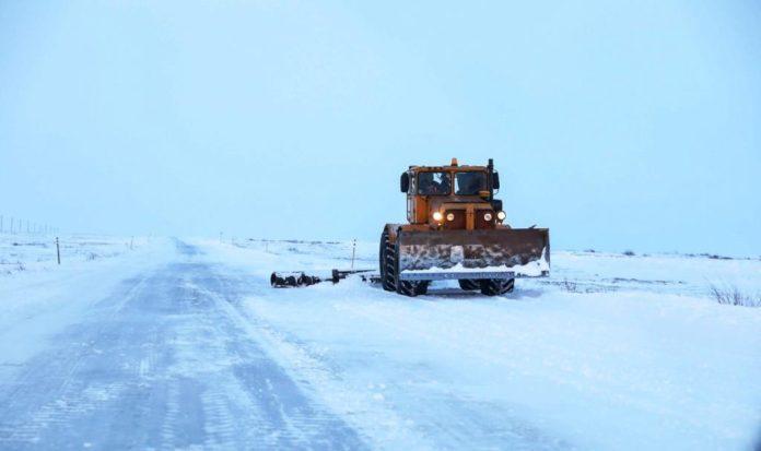 зимняя дорога усинск нарьян мар работа техники зимник метель