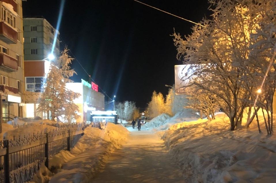 На улицах Усинска пора беречь носы и щёки - Усинск Онлайн